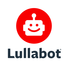 Lullabot logo: a happy robot face in a red circle, above the Lullabot wordmark